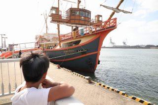 日曜日家族で遊覧船に乗りました