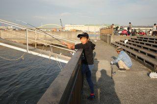 日曜日長男と釣りに行きました